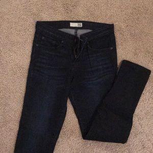 David Kahn Skinny ZIP Ankle Jeans